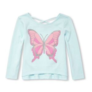 NWT Children's Place Butterfly Shirt Top 3T